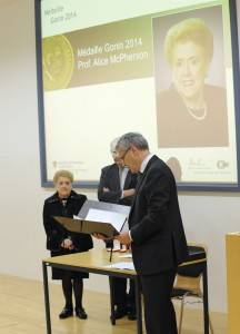Presentation of Diploma of Gonin Medal to Dr. McPherson