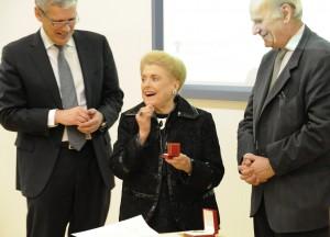 Dr. McPherson with Prof. Dominique Arlettaz, Dean Univ. of Lausanne, and Dr. JJ Delaey, Vice-Pres. ICO