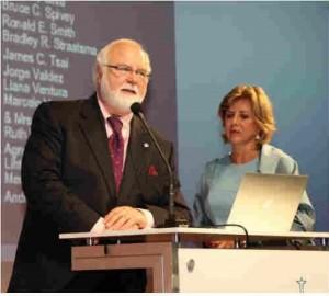 Opening Ceremony: Dr. William De La Peña and Ana Luisa Hofling-Lima introduce RRF Kayser Global Award
