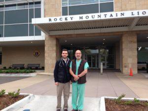 Sergio Groman Lupa with Dr. Hugo Quiroz