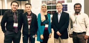 Corson Lab Group at 2015 ARVO (L to R): Mehdi Shadmand, Michael O'Hare, Rania Sulaiman, Tim Corson, Halesha Basavarajappa
